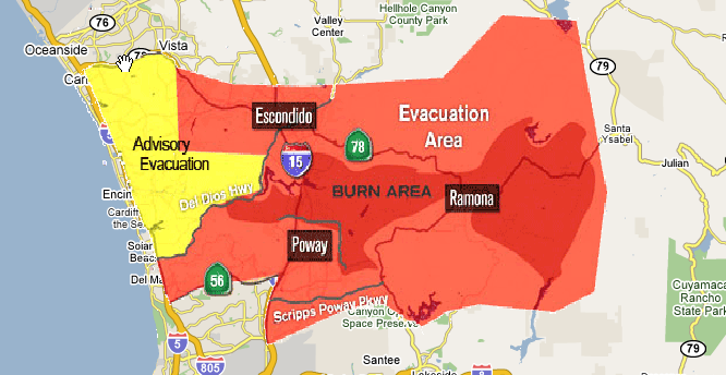 Fire Map San Diego County
