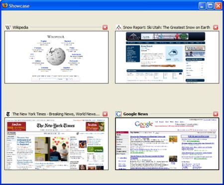 Showcase Firefox Thumbnail Browser
