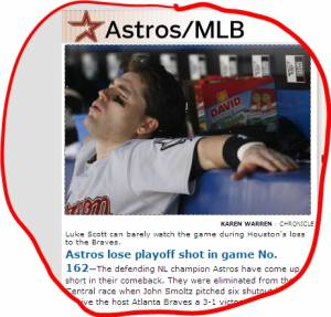 Astros lose playoff shot